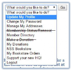 What would you like to do? dropdown list